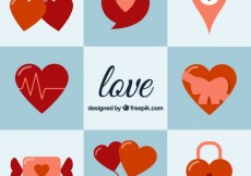 Free vector Variety of heart icons #27597