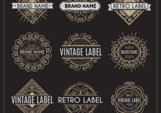 Free vector Variety of retro labels #21002