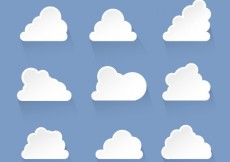 Free vector Variety of white cloud icons #27904