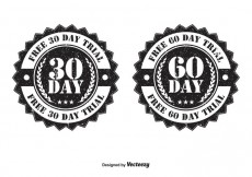 Free vector 30 and 60 Day Trial Badges #22394