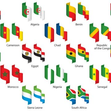 Free vector Africa Ribbons #24167
