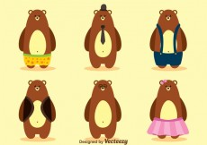 Free vector Vector Bear With Clothes #25890
