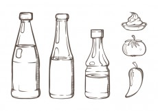 Free vector Bottle Sauce Illustrations #26926