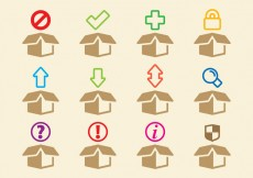 Free vector Boxes Icons #26636