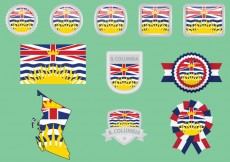 Free vector British Columbia Flags #20437