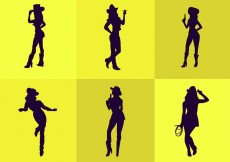 Free vector Cowgirl Silhouette #20639