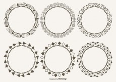 Free vector Cute Decorative Frames Set #24491