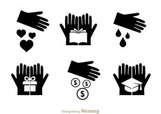 Free vector Vector Donate Black Icons #24599