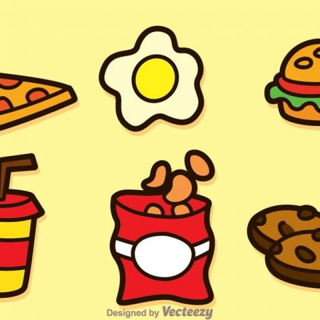 Free vector Fatty Food Icons #20947