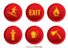 Free vector Fire Emergency Icons #24261