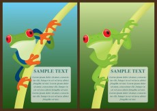 Free vector Green Frogs Flyers #21097