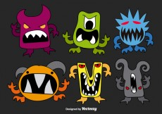 Free vector Hand drawn monsters #20965