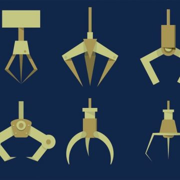 Free vector Highly Stylized Claw Machine Claw Set #23265
