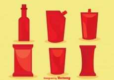 Free vector Vector Hot Sauce Packages #20767