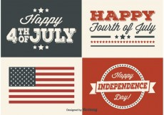Free vector Independence Day Labels #23829