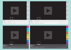 Free vector Media Player With Social Buttons #24117