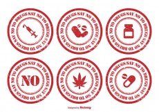Free vector No To Drugs Rubber Stamp Set #24715