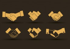 Free vector Set of hand shake icons design #24245