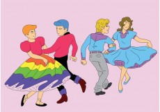 Free vector Square Dance Partners #24047