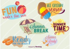 Free vector Summer Time Beach Graphics #28093