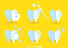 Free vector Teeth Care Icons #24445