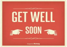 Free vector Vintage Get Well Soon Illustration #21945