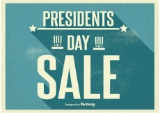 Free vector Vintage Presidents Day Sale Poster #21508