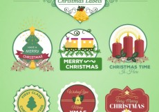 Free vector Vintage christmas labels collection #27625