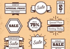 Free vector Vintage sale badges #25383