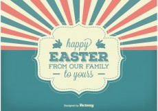 Free vector Vintage Style Easter Background Vector #22424