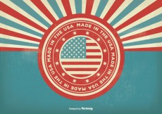 Free vector Vintage Style Made In the USA Illustration #26966