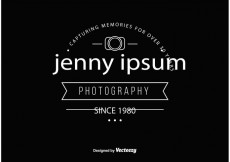 Free vector Vintage Style Photographer Logo Template #22418
