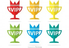 Free vector Vip Trophy Icons Vector Pack #27106
