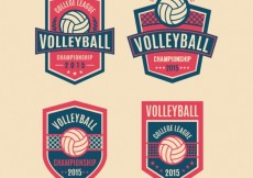 Free vector Volleyball badges pack #25593