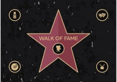 Free vector Walk Of Fame Vector Free #24037