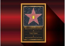 Free vector Walk of Fame Vector Star #23569