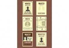 Free vector Wanted Old Poster Vectors #21430