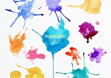 Free vector Watercolor paint splashes #27157