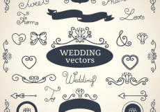 Free vector Wedding decorations collection #22240