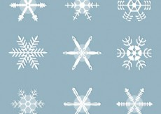 Free vector White snowflakes collection #28018