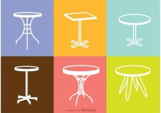 Free vector White Table Icons Vector #27520