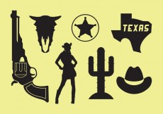 Free vector Wild West Icons #20665