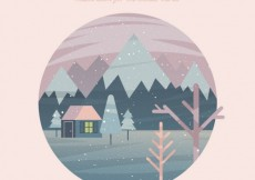 Free vector Winter is coming card #24334