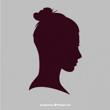 Free vector Woman silhouette with a bun #25505