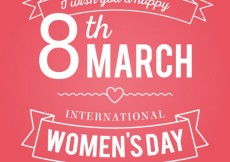 Free vector Women's day card with lettering #21262
