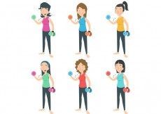Free vector Work Out Ladies Vector #23626