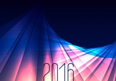 Free vector 2016 new year in lights #31884