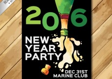 Free vector 2016 new year party poster #28549