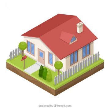 Free vector 3D Style House #33727
