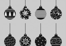 Free vector Abstract christmas baubles collection #29347